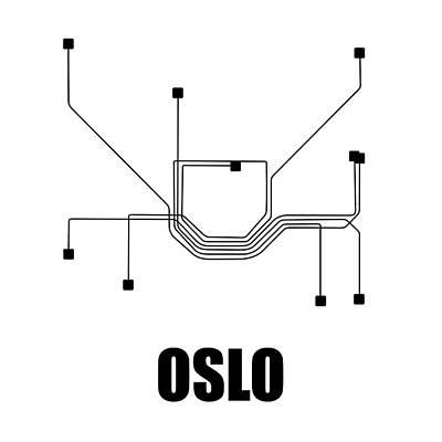 Designs Similar to Oslo White Subway Map