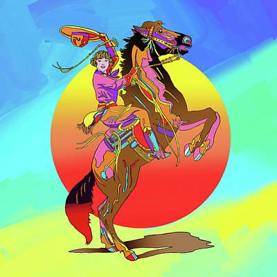 Cowgirl Digital Art