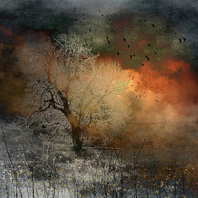 Digital Art - The Ice Tree by Glenys Garnett