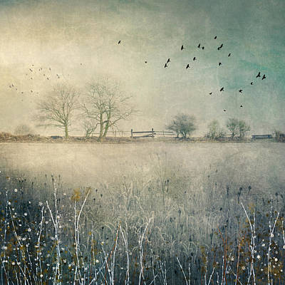 Digital Art - Up at High Hoyland by Glenys Garnett