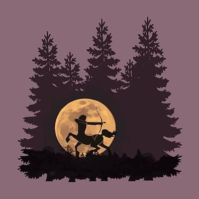 Digital Art - Hunter's Moon by Rebecca Gallant