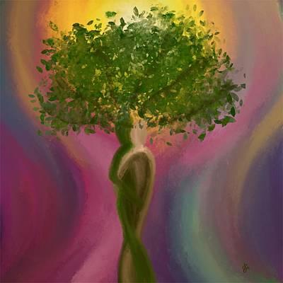 Painting - Beltane Embrace by Jen Gray