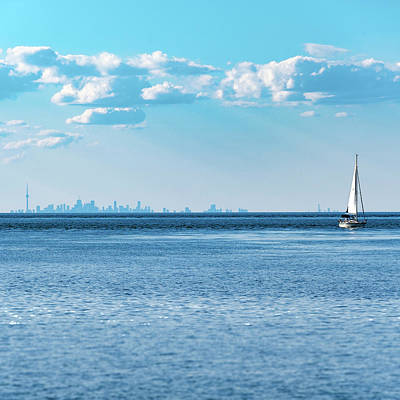 Photograph - Canadian mixture of cityscape and landscaoe by Lake Ontario by Farzad Frames