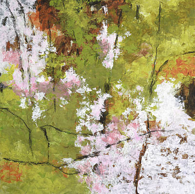 Painting - Early Sakura Blossoms by Melody Cleary