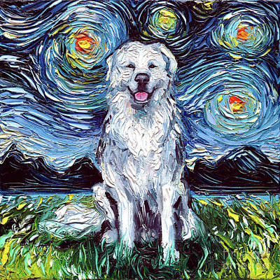 Painting - Great Pyrenees by Aja Trier
