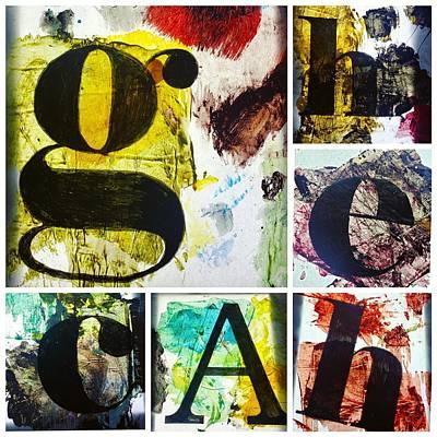 Painting - Letterforms by Eliaichi Kimaro