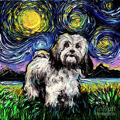 Painting - Lhasa apso by Aja Trier
