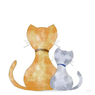 Digital Art - Meow Are You? by Kirsten Aufhammer