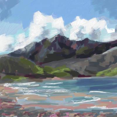 Digital Art - Mount Brandon from Fermoyle Beach by Catherine Considine