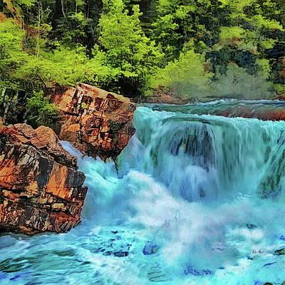 Photograph - Mountain Waterfall by Russ Harris