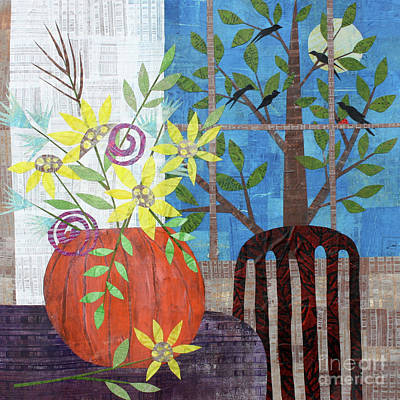 Mixed Media - Pumpkin Bouquet by Janyce Boynton