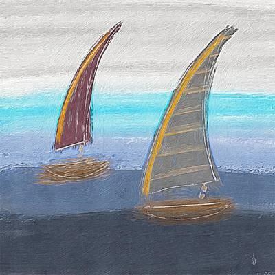 Painting - Sailboats by Jen Gray