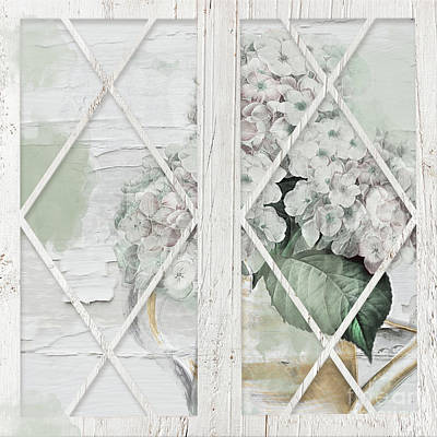 Painting - Shabby Hydrangea by Mindy Sommers