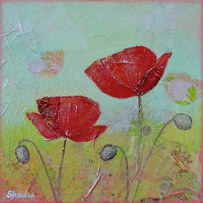 Painting - Spring Poppy I by Shadia Derbyshire