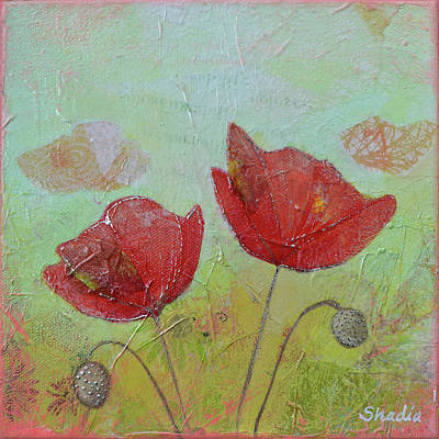 Painting - Spring Poppy II by Shadia Derbyshire