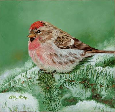 Painting - Xmas Tweet by Alice Betsy Stone