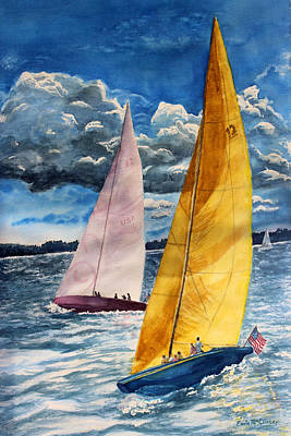 Enola McClincey: Sailboat Race Art