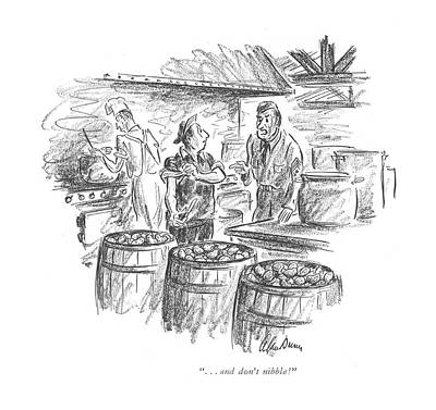 Setting Drawing - . . . And Don't Nibble! by Alan Dunn