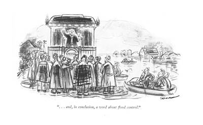 . . . And, In Conclusion, A Word About ?ood Art Print by Leonard Dove