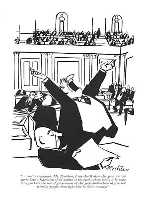 Senate Drawing - . . . And In Conclusion by Mischa Richter