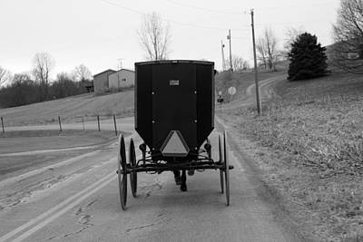 A Cold Amish Ride Art Print by Wendy Aycox  Newkirk