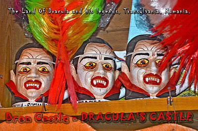 Transylvania Digital Art -   Souvenirs. Next To Bran Castle - Dracula's Castle. by Andy Za