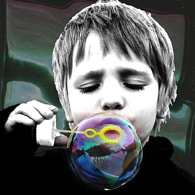 Concentration Digital Art - . . The Magician . . by I'ina Van Lawick