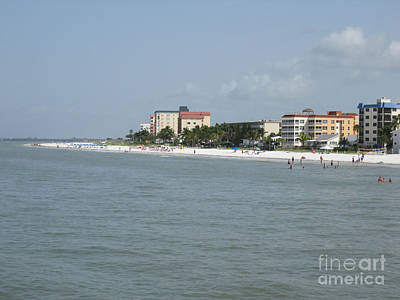 Photograph -    White Sandy Fort Myers Beach   by Oksana Semenchenko