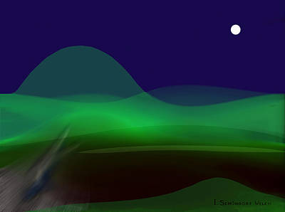 Welch Digital Art -  077 - Calm Of The Night E by Irmgard Schoendorf Welch