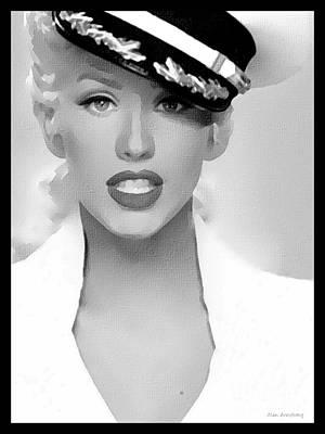 Christina Digital Art - # 1 Christina Aguilera Portrait. by Alan Armstrong