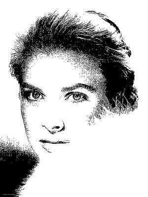 Grace Kelly Digital Art - # 1 Grace Kelly Portrait. by Alan Armstrong