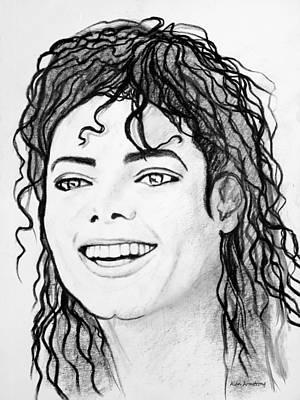 # 1 Micheal Jackson Portraits. Art Print by Alan Armstrong