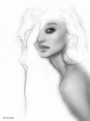 # 1 Miranda Kerr Portrait. Art Print