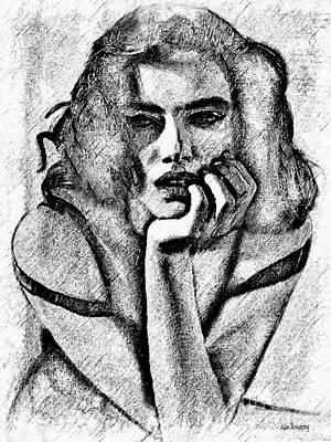 # 11 Adriana Lima Portrait. Art Print