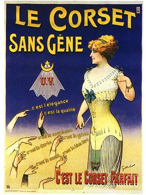 1890s France Womens Underwear Corsets Art Print by The Advertising Archives