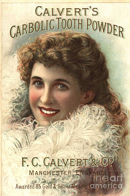 1890s Uk Calvert Toothpaste Art Print by The Advertising Archives