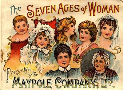 1890s Uk Maypole Ageing The Seven Ages Print by The Advertising Archives