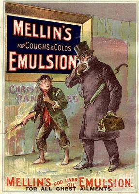 1890s Uk Mellin�s Emulsion Coughs Art Print by The Advertising Archives