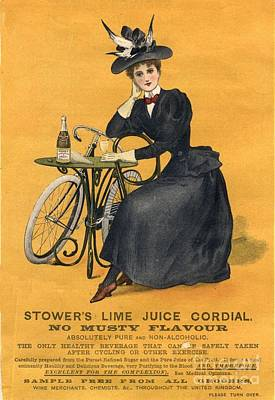 1890s Uk  Stowers Lime Juice Cordial Art Print by The Advertising Archives