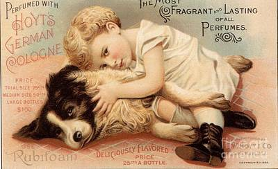 1890s Usa Babies Hoytes Cologne Dogs Art Print by The Advertising Archives