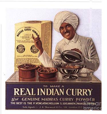 Nineteen-tens Drawing -  1910s Uk Indian Food Curry Warning - by The Advertising Archives