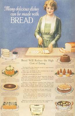 Nineteen-tens Drawing -  1910s Usa Bakers Bread by The Advertising Archives