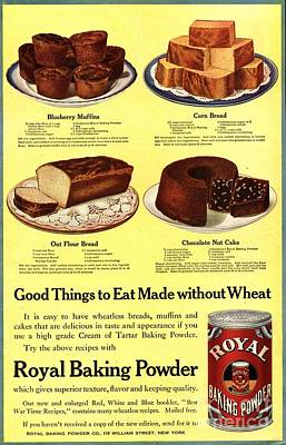 Nineteen-tens Drawing -  1910s Usa Cooking Royal Baking Powder by The Advertising Archives