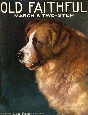 Nineteen-tens Drawing -  1910s Usa Old Faithful Dogs by The Advertising Archives