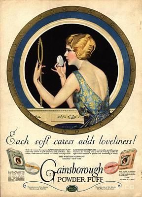 1910s Usa Pampering Make-up Makeup Print by The Advertising Archives