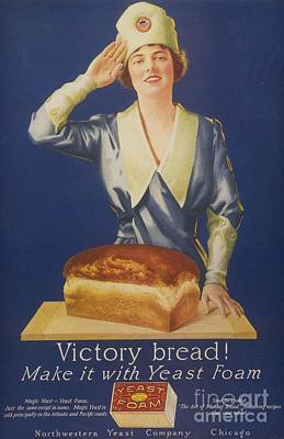 Nineteen-tens Drawing -  1910s Usa Victory Bakers Flour Baking by The Advertising Archives