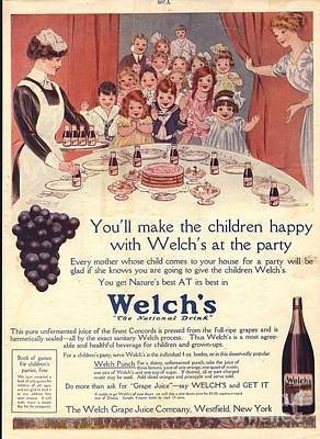1910s Usa Welchs Juice Children�s Art Print by The Advertising Archives