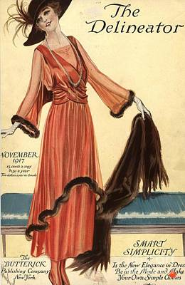 Nineteen-tens Drawing -  1910s Usa Womens Magazines Clothing by The Advertising Archives