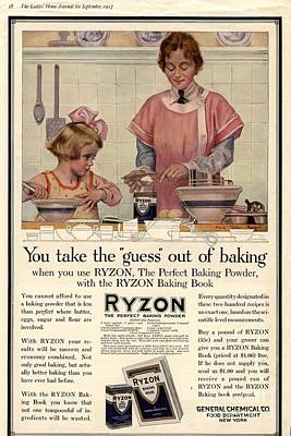 Nineteen-tens Drawing -  1917 1910s Usa Cooking Ryzon Baking by The Advertising Archives
