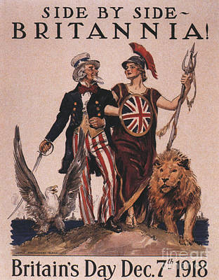 Nineteen-tens Drawing -  1918 1910s Usa Uncle Sam Ww1  Lions by The Advertising Archives